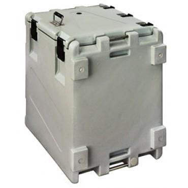 Contenitore isotermico ad apertura superiore per il trasporto di prodotti freschi e surgelati a temperatura controllata