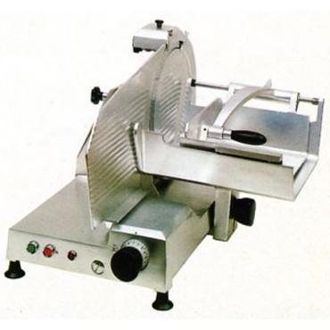 Affettacarne Morgan per carne e salumi CE.O.M.S. lama diametro mm 370, trifase 380, con carro gigante - Trancheur electrique vertical - Vertical electric slicing machine.