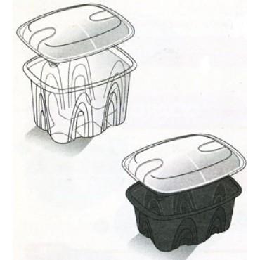 Vaschette da gastronomia ARCHIPACK a tenuta stagna, con coperchio staccato indipendente, di forma rettangolare, per uso caldo e freddo, anche in microonde.