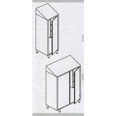 Armadi pulizia inox modello standard, con tetto inclinato - IL PRIMO ARTICOLO E' DA SCONTARE DEL 5%, IL SECONDO DEL 10%.