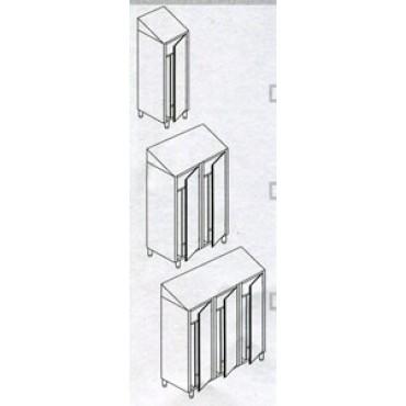 Armadi spogliatoio inox modello standard, con tetto inclinato - ARTICOLI DA SCONTARE DEL 5% O DEL 10%.