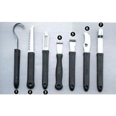 Arricciaburro, coltello decoratore cm 9 ecc.