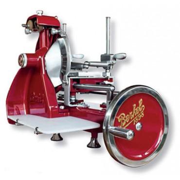 Affettatrice originale Berkel mod. B2, a volano, rossa, lama cm 26,5. Con piedistallo o senza.