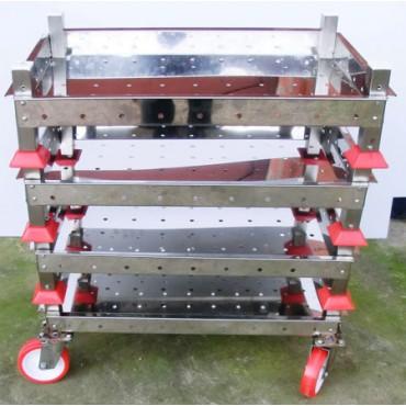 Baltresche per salumifici e industria carni in acciaio inox AISI 304