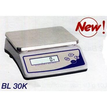 Bilancia tecnica di precisione digitale con capacità di pesata: 30 kg e risoluzione: 1 g Display retroilluminato. Volt 220.