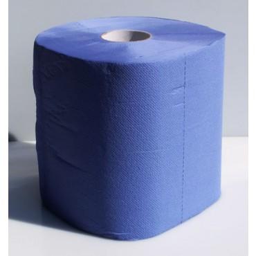 Panno in bobine super blu foods monouso cm 30x26,5h, 500 strappi, 3 veli, confezioni da 2 bobine.