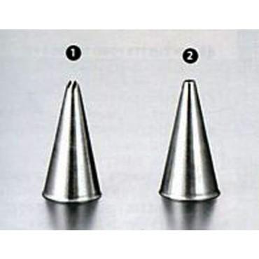 Bocchette per decorare inox con foro a stella e con foro tondo, conf. 2 pz.