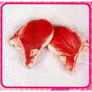 2 braciole di maiale finte mm 135x100 (prezzi per 1 confezione da 2 braciole)