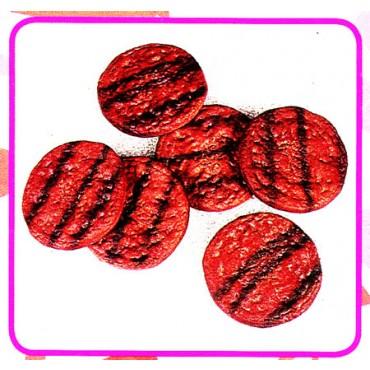 6 hamburger arrostiti finti mm 100 (prezzi per 1 confezione da 6 hamburger)
