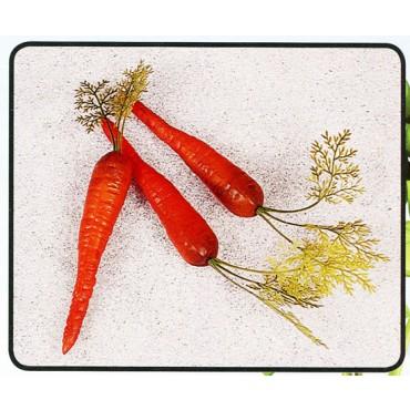 3 carote con foglia finte mm 40x300 (prezzi per 1 confezione da 3 carote con foglia)