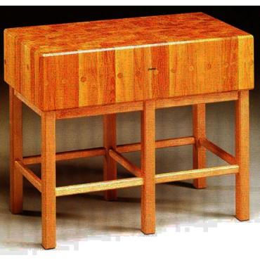 Ceppi a bancone in legno di acacia a tasselli, con sgabello a 6 gambe - PREZZI DA SCONTARE DEL 10%.