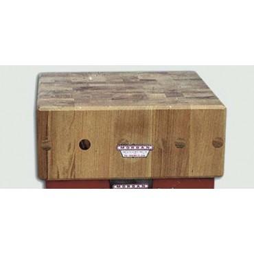 Ceppi in legno di acacia per lavorazione carni, senza sgabello, spessore cm. 20. Sistema brevettato con tiranti interni in acciaio - 4 PREZZI SONO DA SCONTARE DEL 5%.