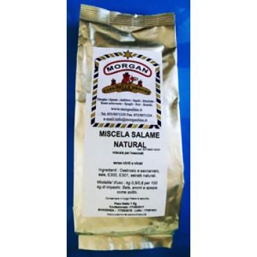 MISCELA SALAME NATURAL (miscela per insaccati), senza nitriti e nitrati, prezzi per confezioni da kg 1.