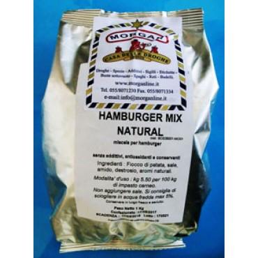 HAMBURGER MIX NATURAL (miscela per hamburger), senza additivi chimici, antiossidanti e conservanti, prezzi per confezioni da kg 1.