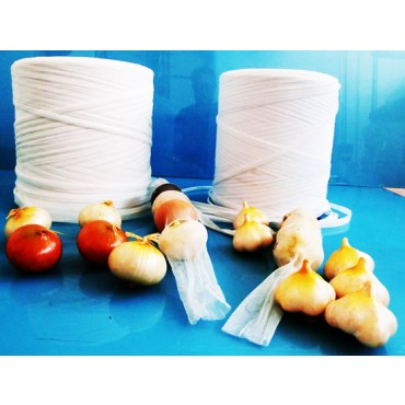 Rete in plastica tubolare per confezionamento agli, cipolle, frutta secca ecc.