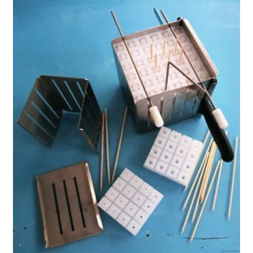 Taglia spiedini - cubo - in acciaio inox con sportello apribile - prezzi in offerta.