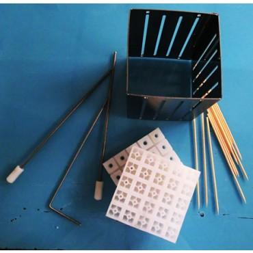 Cubo fabbrica spiedini a prezzi promozionali, in acciaio inox.