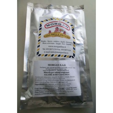 SALAME AGRO-CASALINGO Miscela per salumi stagionati, per uso professionale, prezzo per confezioni da 350 grammi (peso netto).