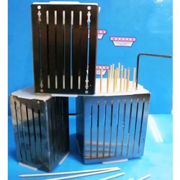 Cubo fabbrica spiedini arrosticini a prezzi promozionali, in acciaio inox, per uso semiprofessionale.