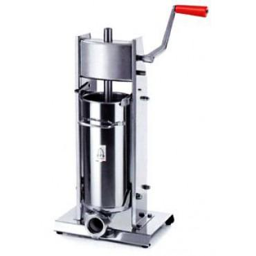 Insaccatrice manuale per salumi usata modello 5/V Tre Spade, capacità 5 l, usata per dimostrazione nelle macellerie.