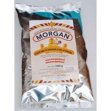 Miscele pronte all'uso Morganline per hamburger e polpette, già complete di additivi, aromi, sapori e di tutto il sale necessario. Prezzi per buste da kg 1.