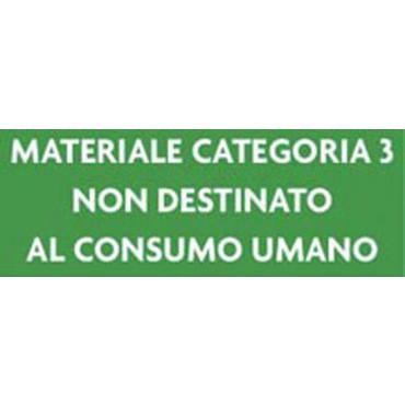 Etichetta in plastica adesiva cm. 15x30, colore verde, prezzo cad.