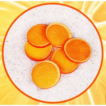 6 fette d'arancia finte mm 60 (prezzi per 1 confezione da 6 fette d'arancia)