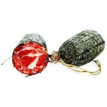 Fondine o cucite per pezzi di carne in salagione (coppe, culatelli ecc.), budelli di cavallo naturali salati e cuciti, prezzi per confezioni da pz 100 in secchiello.