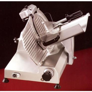 Affettatrici a gravità Morgan professionali con affilatoio fisso, CE.G.I. motore monofase volt. 220, a richiesta trifase volt. 380, prezzi a partire da € 588,00.