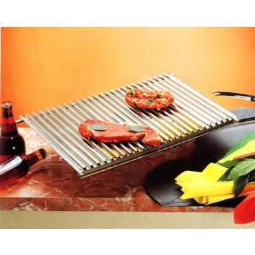 Griglia di cuttura per spiedini per barbecue o fornelli brevettata, mm 325x470 - Cooking plate.