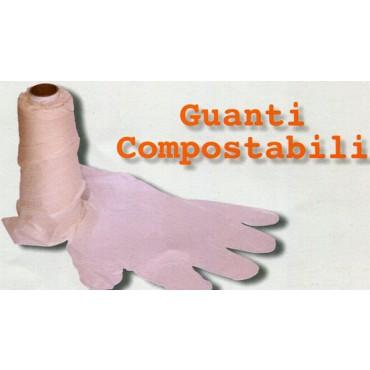 Guanti Roll biodegradabili compostabili per ortofrutta, supermercati e negozi alimentari, prezzo per 1 rollo da 200 strappi.