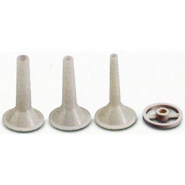 Imbuti e corona per insaccare, da applicare al tritacarne (accessori per tritacarne).