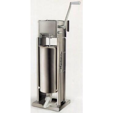 Insaccatrice professionale Reber in acciaio inox litri 15 a 2 velocità, ad uso verticale e orizzontale, ingranaggi in acciaio.