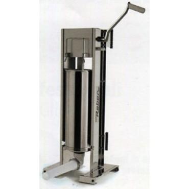 Insaccatrice professionale Reber in acciaio inox litri 8 a 2 velocità, ad uso verticale e orizzontale, ingranaggi in acciaio.