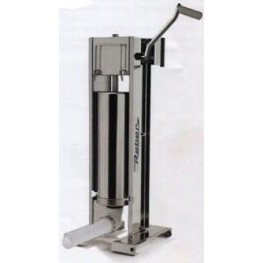 Insaccatrice professionale Reber in acciaio inox litri 10 a 2 velocità, ad uso verticale e orizzontale, ingranaggi in acciaio.