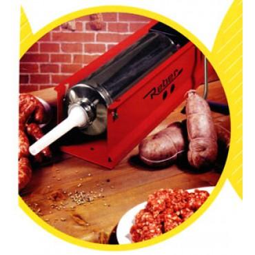 Insaccatrice per salumi - salsicce - salami - insaccati, Reber, a 2 velocità, kg 12, ingranaggi in acciaio.