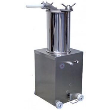 Insaccatrici per salumi Morgan CE idrauliche inox da lt 25 e da lt 40 - Stainless steel hydraulic sausage fillers - Poussoirs hydrauliques en acier inoxydable.