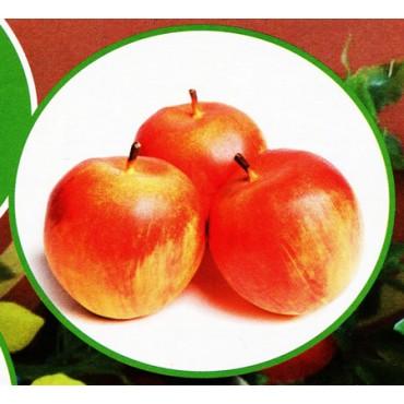 3 mele gialle finte mm 80 (prezzi per 1 confezione da 3 mele gialle)