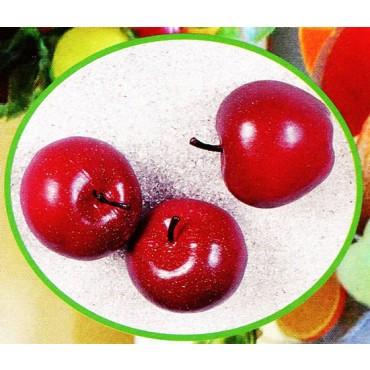 3 mele medie rosse finte mm 75x65 (prezzi per 1 confezione da 3 mele medie rosse)