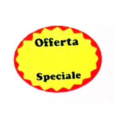 Etichette adesive tipo 2 per supermercati, negozi ecc. rotoli da 650 etichette mm 37x28, prezzi al rotolo..