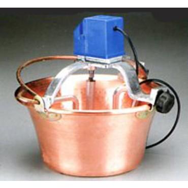 Paiolo elettrico rame per polenta lt 14, diametro 38 cm, W 30.