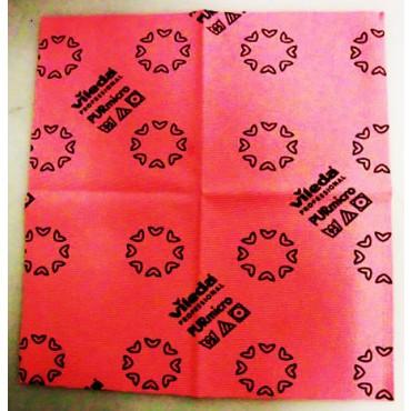 Panno originale Vileda PURmicro colore rosso formato cm 38 x 35. Per tutte le superfici, ideale per sgrassare e pulire acciaio inox, macchine, piastrelle ecc., prezzi per 1 panno.