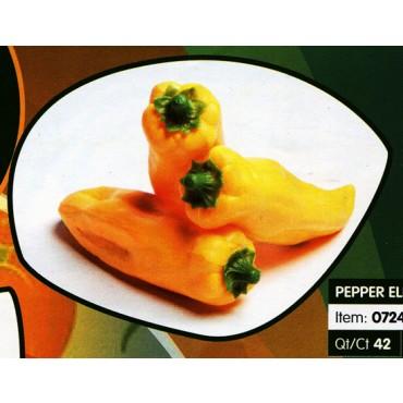 3 peperoni Elba gialli finti mm 40x160 (prezzo per 1 confezione da 3 peperoni Elba gialli)