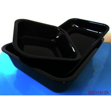 Pirofile nere in metalcrilato ricavate da lastra intera, prezzi cadauna.