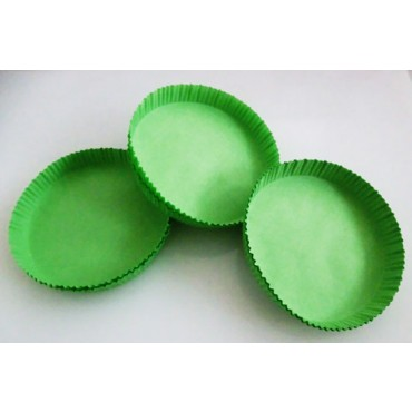 Pirottini o scodellini in carta verde diametro cm 10, altezza mm 15, confezioni da pz 1500.