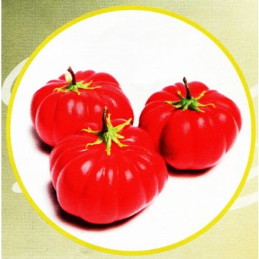 3 pomodori con foglia finti mm 80x65 (prezzi per 1 confezione da 3 pomodori con foglia)