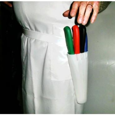 Portacoltelli con cintura in plastica morbida