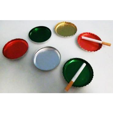 Posacenere in alluminio monouso (usa e getta), anche riutilizzabili, diametro mm 70, per feste, party, catering.