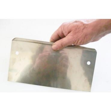 Raschietto inox marca Alce a 2 mani cm 25 x h 12
