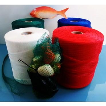 Rete in plastica per confezionamento frutti di mare, crostacei, lumache, chiocciole, cozze, vongole, prodotti ittici e prodotti di elicicoltura.